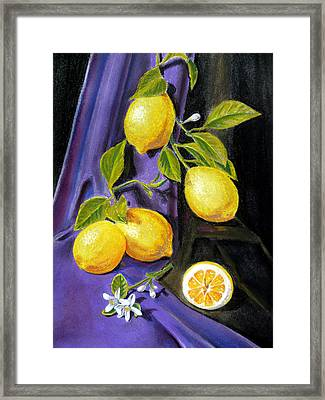 Sorrento Lemons Framed Print