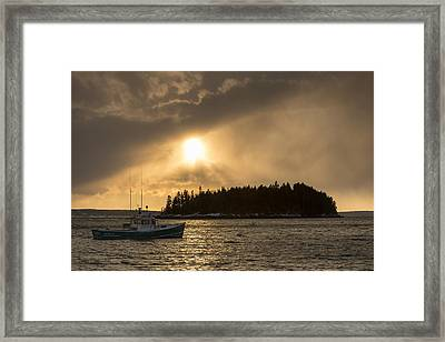 Framed Print featuring the photograph Sorrento Squalls by Patrick Downey