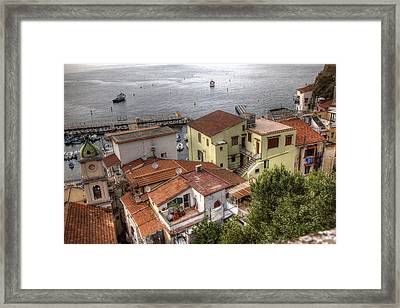 Framed Print featuring the photograph Sorrento by Uri Baruch
