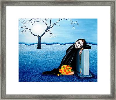 Sorrow And Hope Framed Print by Evangelina Portillo