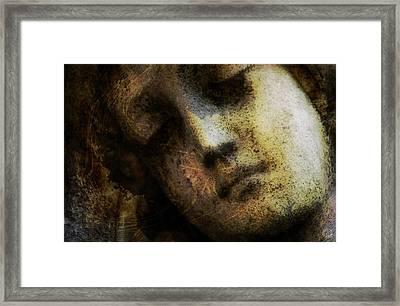 Sorrow Captured In Stone Forever Framed Print by Gun Legler