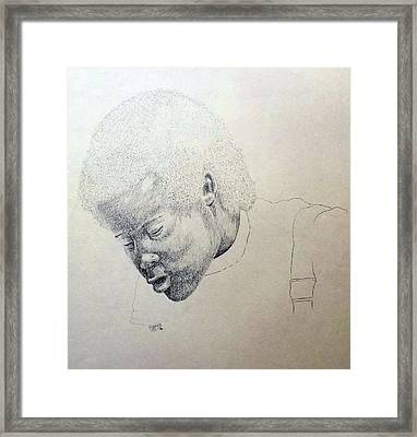 Framed Print featuring the drawing Sorrow by Richard Faulkner