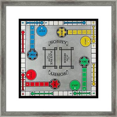 Sorry Board Game Framed Print