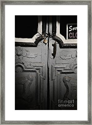 Sorry Closed Framed Print by Margie Hurwich