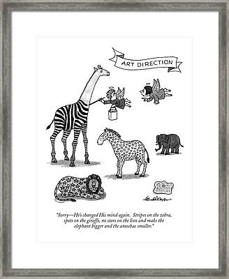 Sorry - He's Changed His Mind Again.  Stripes Framed Print