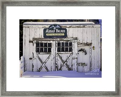 Sorry We Are Closed Framed Print by Janice Rae Pariza