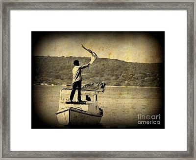 Sos   Need Gas To Get To Shore Framed Print by John Malone