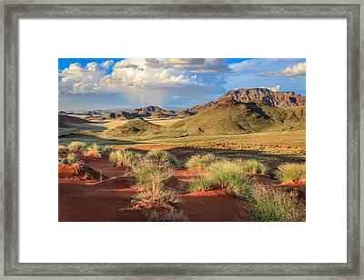 Sossulvei Namibia Afternoon Framed Print