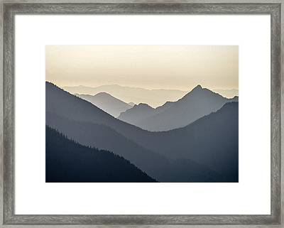 Sostice In The Olympic Mountains Framed Print by Ronda Broatch