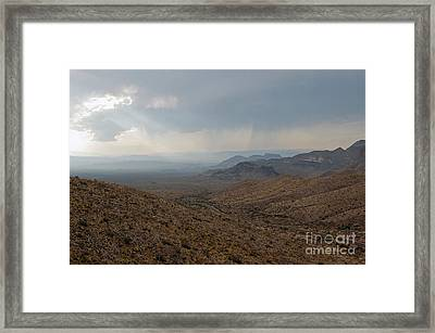 Sotol Scenic Overlook Big Bend National Park Framed Print by Shawn O'Brien