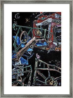 Sott'acqua - Surrealism Art Fantasy Illustration Framed Print by Arte Venezia