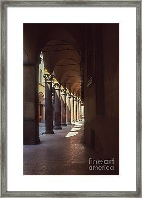 Sotto I Portici Framed Print by Carol Weitz