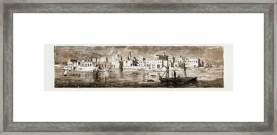 Souakin, On The Red Sea, The Landing-place Of The Sudan Framed Print by Litz Collection