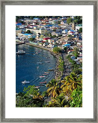 Soufriere - Saint Lucia Framed Print by Brendan Reals