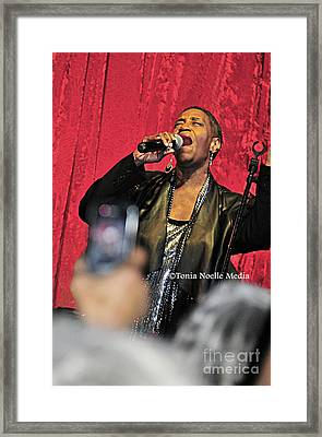 Soul Diva Sings Again Framed Print