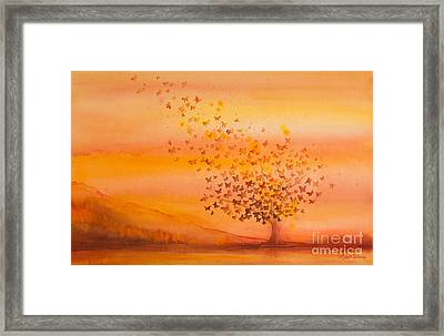 Soul Freedom Watercolor Painting Framed Print