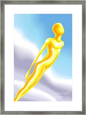soul Illustration Framed Print by Christos Georghiou