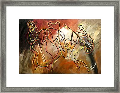 Soul Jazz 2 Framed Print by Leon Zernitsky