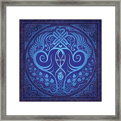 Soul Mates - Blue Framed Print by Cristina McAllister