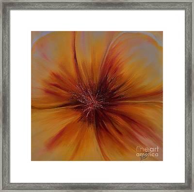 Soul Of A Flower Framed Print by Mary DeLawder