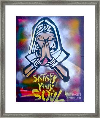 Soul Satisfying 1 Framed Print by Tony B Conscious