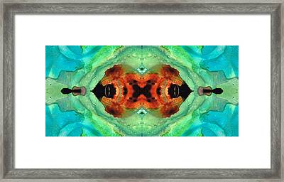 Soul Symphony - Abstract Art By Sharon Cummings Framed Print