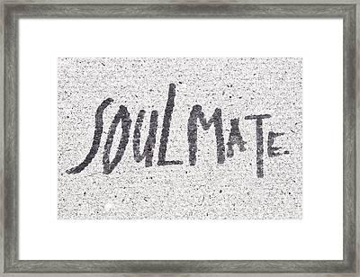Soulmate Framed Print by Tom Gowanlock