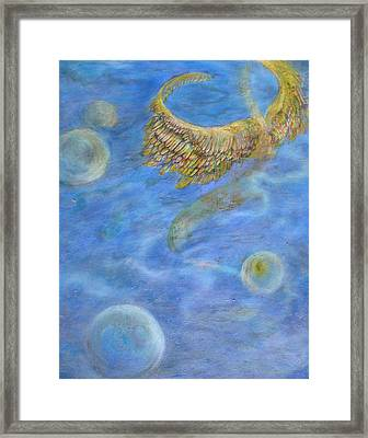 Soul's Flight In The Ocean Of Time And Space Framed Print by Jacquelyn Roberts