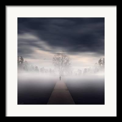 Pathways Digital Art Framed Prints