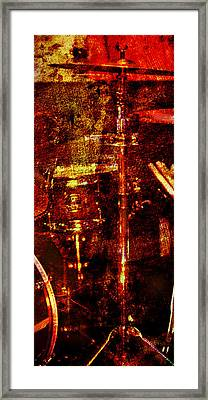 Framed Print featuring the photograph Sound Bites Niche Art Drumset by Bob Coates