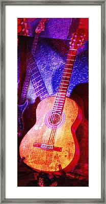Framed Print featuring the photograph Sound Bites Niche Art Guitars by Bob Coates