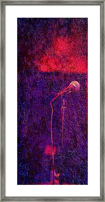 Framed Print featuring the photograph Sound Bites Niche Art Microphone by Bob Coates