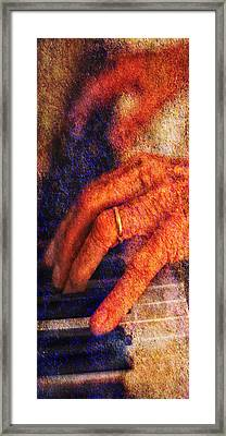Framed Print featuring the photograph Sound Bites Niche Art The Hands Of Joel by Bob Coates