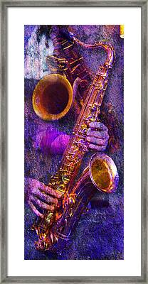 Sound Bites Niche Stacked Sax Framed Print