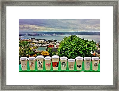 Sound Coffees Framed Print by Benjamin Yeager
