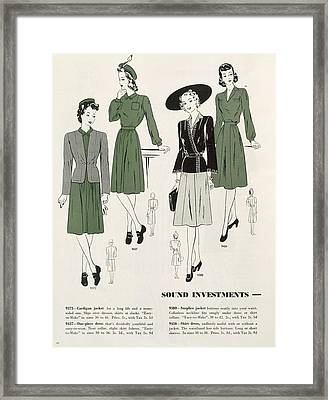 Sound Investments, C.1940 Framed Print by .