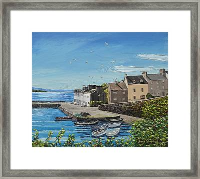 Sound Of Seagulls Roundstone Connemara Ireland Framed Print
