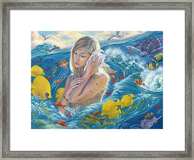 Sound Of The Ocean Framed Print