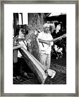 Sound Of The Streets Framed Print by Andrew Raby