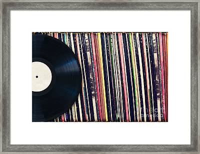 Sound Of Vinyl Framed Print by Delphimages Photo Creations