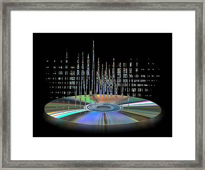 Sound Waves Framed Print by Gill Billington
