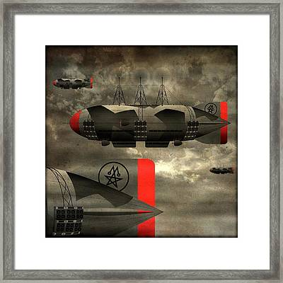 Sound Zeppelins Framed Print by Milton Thompson