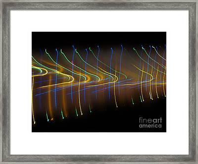 Soundcloud. Dancing Lights Series Framed Print by Ausra Huntington nee Paulauskaite