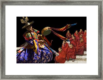 Framed Print featuring the digital art Sounding Drum by Angelika Drake