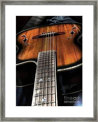 Sounding Off Digital Guitar Art Bt Steven Langston Framed Print by Steven Lebron Langston