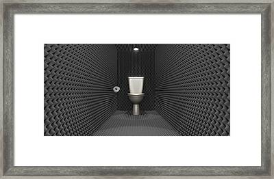 Soundproof Toilet Cubicle Framed Print