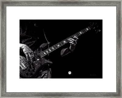 Sounds In The Night Bass Man Framed Print