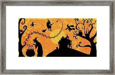 Sounds Like Halloween IIi Framed Print by Belinda Aldrich