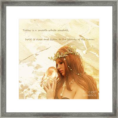 Sounds Of The Sea Framed Print by Linda Lees