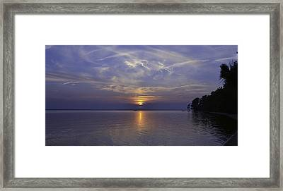 Soundside Sunset Framed Print